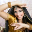 Beautiful indian brunette traditional fashion style - 图库照片