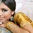 Beautiful indian brunette traditional fashion style — Stock Photo #5498481
