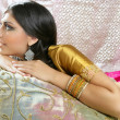 Beautiful indian brunette traditional fashion style - Stock fotografie