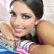 Beautiful indian brunette woman portrait — Stockfoto