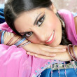Beautiful indian brunette woman portrait - Stock Photo