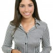 Adorable young woman student businesswoman — Foto Stock