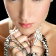 Attractive fashion elegant woman jewelry - Stock Photo