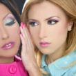 Barbie women doll 1980s style fahion makeup — Stock Photo