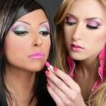 Lipstick fashion girls barbie doll makeup retro 1980s — Stock Photo #5499449