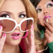 Постер, плакат: Fashion barbie doll style girls pink lipstip makeup
