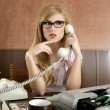 Stock Photo: Beautiful retro businesswoman vintage secretary