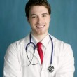 Happy young male doctor man smile handsome — Stock Photo