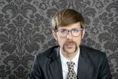 Businessman nerd retro glasses portrait — Stock Photo