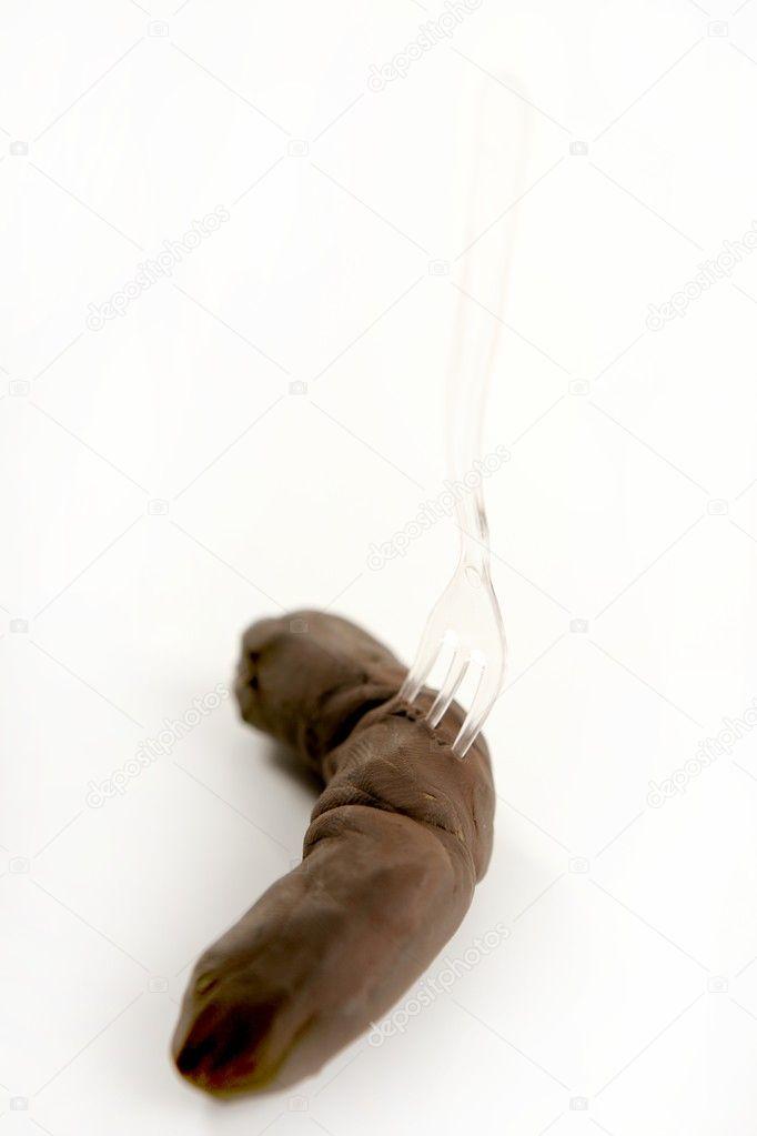 Сонник кал свой в руке