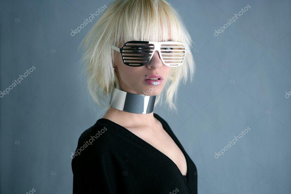 Futuristic Glasses Fashion Blonde Fashion Futuristic