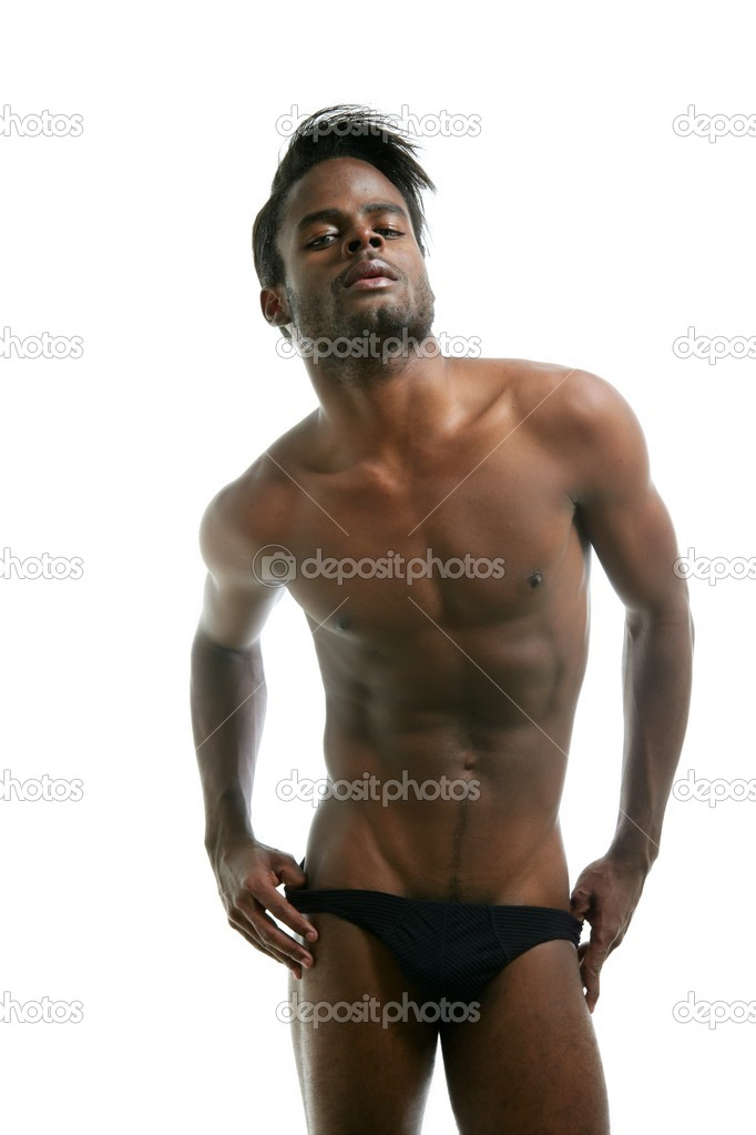 African american male model underwear at studio — Stock Photo #5497168