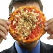 Royalty-Free Stock Photo: Businessman and junk fast food, pizza