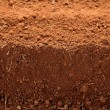 Royalty-Free Stock Photo: Ploughed red clay soil agriculture fields