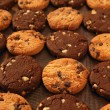 Chocolate cookie biscuits - Stock Photo