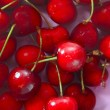 Cherry red fruits texture — Stock Photo