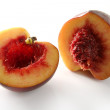 Bloody inside, half cut peach - Stockfoto
