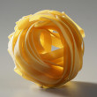 Dried macro noodles yellow pasta, studio shot — Stock Photo