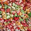 Multi color, sweet pop corn macro — Stock Photo