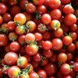 Abstract texture pattern of red cherry tomatoes — Stock Photo