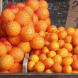 Tengerine oranges on mediterranean market - Stockfoto