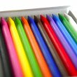 Royalty-Free Stock Photo: Colorful set of pencil in a box