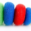 Domestic colorful sponge washer for dishes - Foto Stock