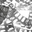 Stock Photo: Pills tabs blister silver texture
