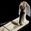 Marriage seen as a mouse trap — Stock Photo