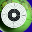 Green planet earth seen as a target — Stock Photo