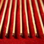 Light wooden matches arrangement — Stock Photo