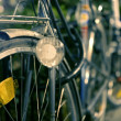 Night bicycle retro image, selective focus — Stock Photo