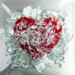 Broken glass red heart — Stock Photo #5504009