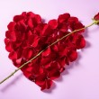 Royalty-Free Stock Photo: Red petals heart, valentines flowers metaphor