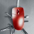 Red mouse metaphor - Foto Stock