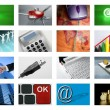 Video tv screen technology and communications - Stock Photo