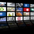Video tv screen technology and communications — Stok fotoğraf