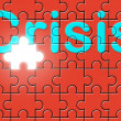 Royalty-Free Stock Photo: Crisis text written on a puzzle background