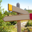 Wood copyspace traffic signal outdoor mountain — Foto Stock