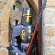 Medieval warrior soldier metal protective wear - Stock Photo