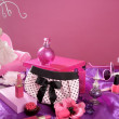 Barbie style fashion makeup vanity dressing table — Stock Photo