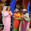 Saint and virgin  figurines in mexican market - Stock Photo