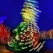 Christmas tree night blurred lighting — Stock Photo