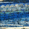 Fishing boat equipment detail: net, arts macro - Stock Photo
