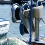 Fishing boat equipment detail: net, arts macro — Stock Photo