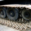 Caterpillars steel wheels from a snowblower - Stock fotografie