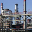 Chemical oil plant equipment petrol distillery - Foto Stock