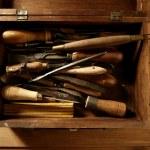 artista de ferramentas craftman carpinteiro mão — Foto Stock