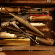 Srtist hand tools for handcraft works — 图库照片