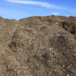 Compost big mountain outdoor ecological recycle - Stock Photo
